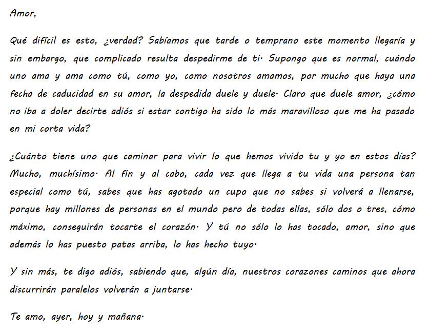 Carta De Despedida De Amor Q Carta De