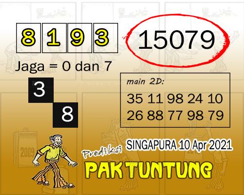 Syair SGP Sabtu 10 April 2021 -