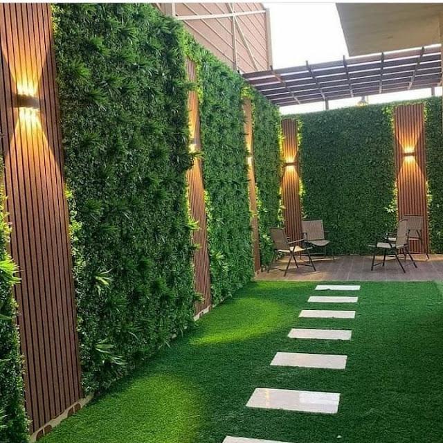 تنسيق الحدائق بالعشب الطبيعي والصناعي  في جدة