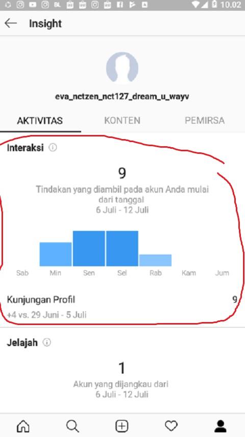 Lihat Grafik Interaksi di Instagram