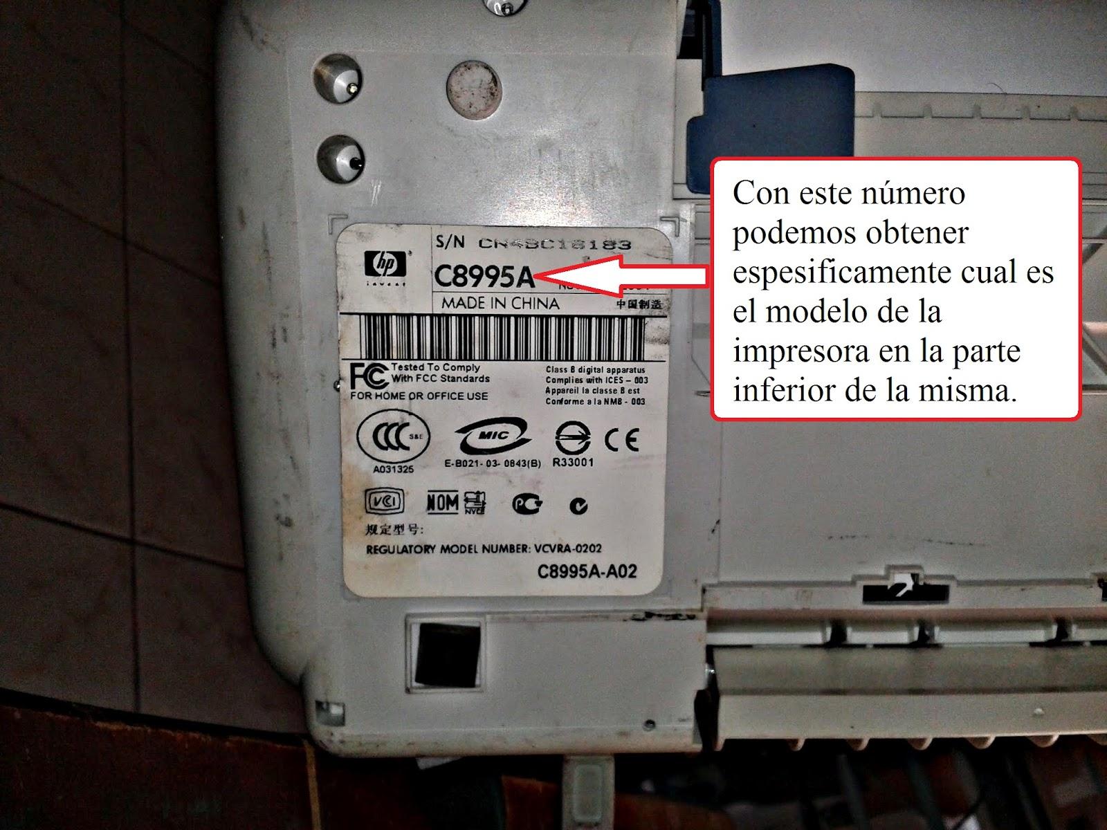 Como Saber Cual Es El Modelo De Mi Impresora Es Rellenado