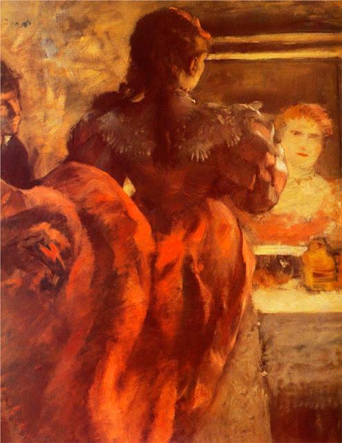 Эдгар Дега - Танцовщица в своей гримёрке (ок.1879)