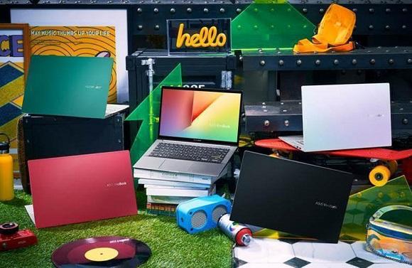 4 warna asus vivobook s14 S433 - laptop warna merah hijau putih dan hitam