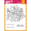 Wplus9 BEAUTIFUL BOUQUET DAHLIA Clear Stamps