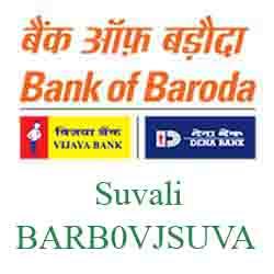 Vijaya Baroda Bank Suvali Branch New IFSC, MICR