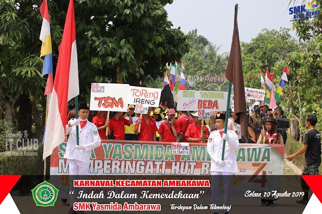 Karnaval HUT RI Ke 74, SMK Yasmida Ambarawa