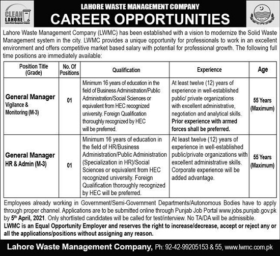 lahore-waste-management-company-lwmc-jobs-2021-apply-online