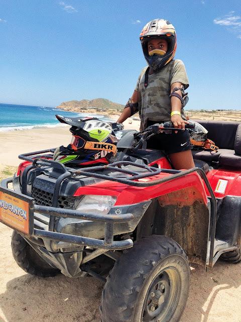 Miss Lauren Alston riding an ATV