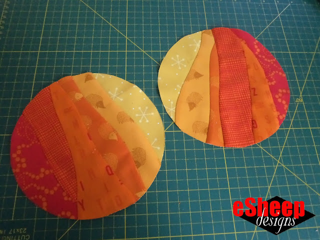 improv curved patchwork quilting