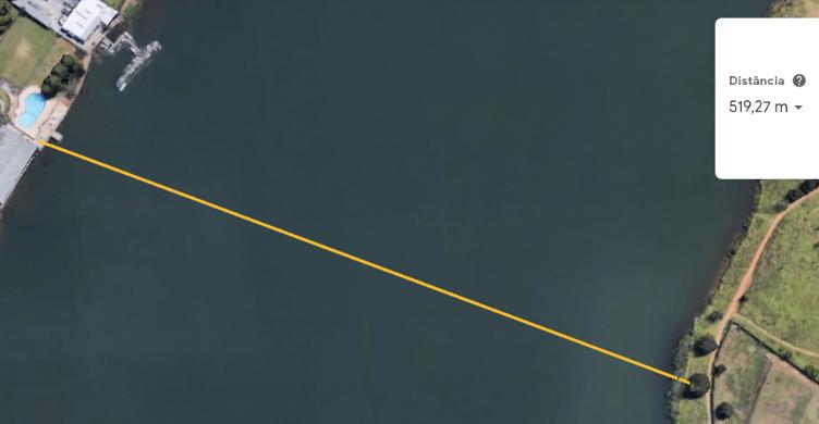 Como calcular a distância entre as margens? A Lei dos Senos