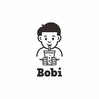 Desain Logo Minuman Boba Bobi