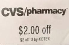 kotex cvs coupon