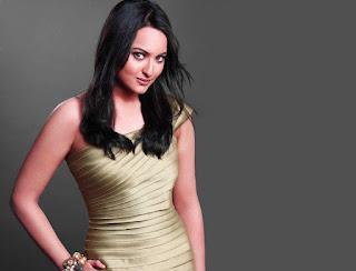Sonakshi Sinha Silver Color Top Pics