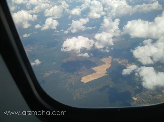 permandangan dari atas kapal terbang, gambar dari firefly ATR 72-500,