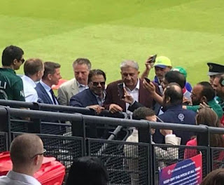 General Qamar Javed Bajwa at Lords Cricket Stadium