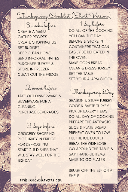 the ultimate printable thanksgiving dinner checklist