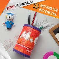 Tempat Pensil PVC Bentuk Bulat, Tempat Pen Pensil Meja Bentuk Bulat, Pen Holder PVC Custome, kotak pensil rakit bulat