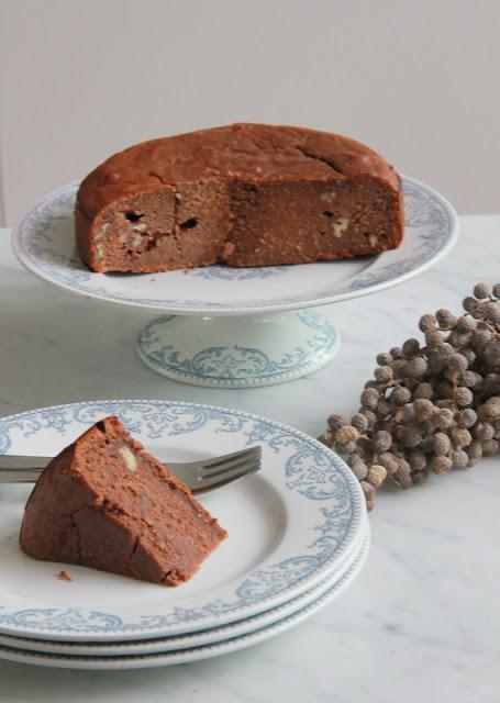 chocolade- noten taartje - www.desmaakvancecile.com