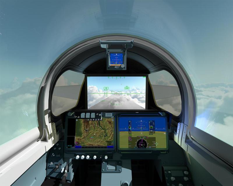 طائرة ناسا x-59 الاسرع من الصوت من الداخل