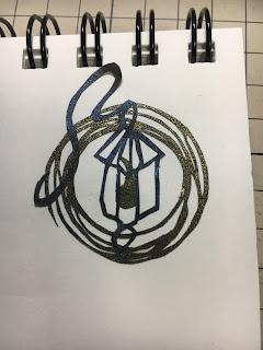 ランプの切り絵②(影織切絵)