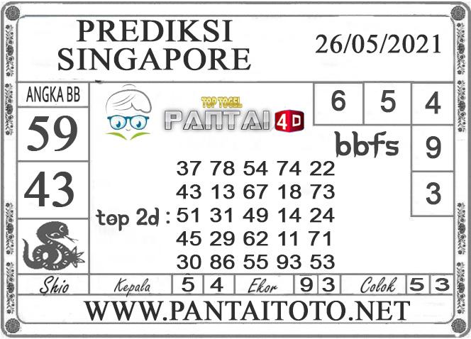 PREDIKSI TOGEL SINGAPORE PANTAI4D 26 MEI 2021