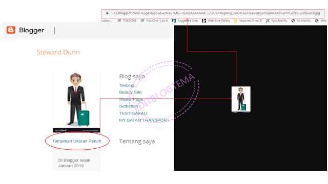 cara mengambil URL gambar profile blogger