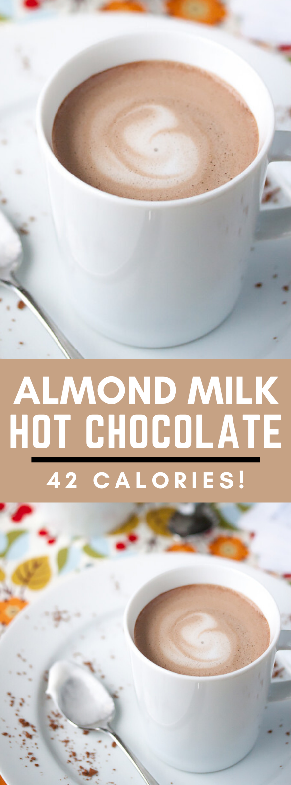 42-Calorie Almond Milk Hot Chocolate #drinks #healthydrink