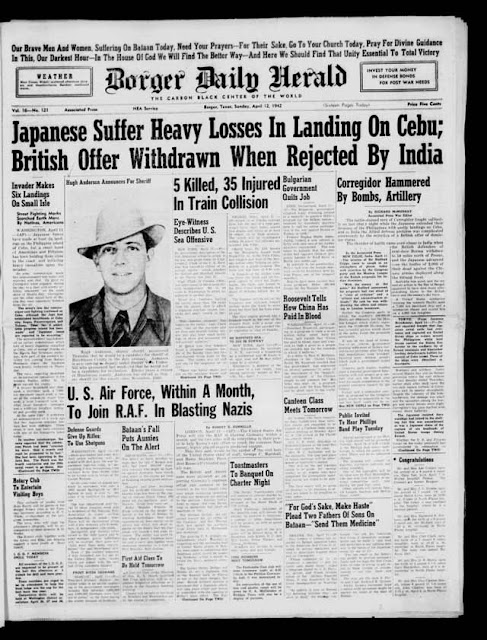 Borger, Texas, Daily Record, 12 April 1942 worldwartwo.filminspector.com