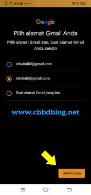 daftar akun baru gmail via hp vivo