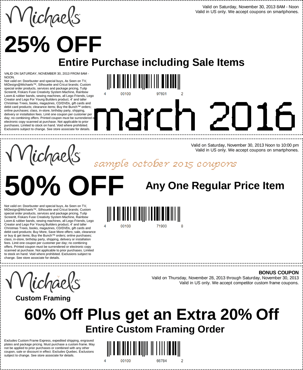 Michael discount coupons