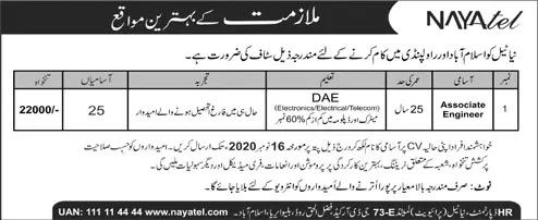 Associate Engineer Jobs in Nayatel Pvt Ltd 2020