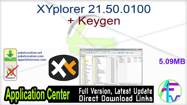 XYplorer 21.50.0100 + Keygen
