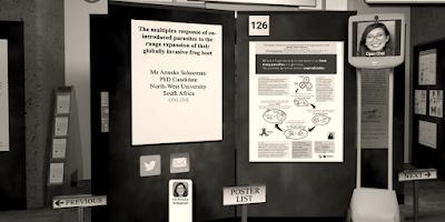 Virtual poster hall.