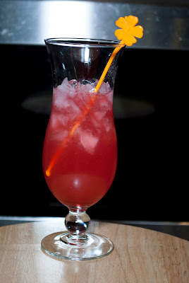 Hawaiian Punch cocktail, peach schnapps, amaretto, grenadine, pineapple juice, cranberry juice