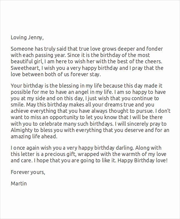 Romantic letters for her