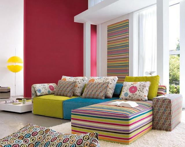 Warna Cat Ruang Tamu Colorful Color
