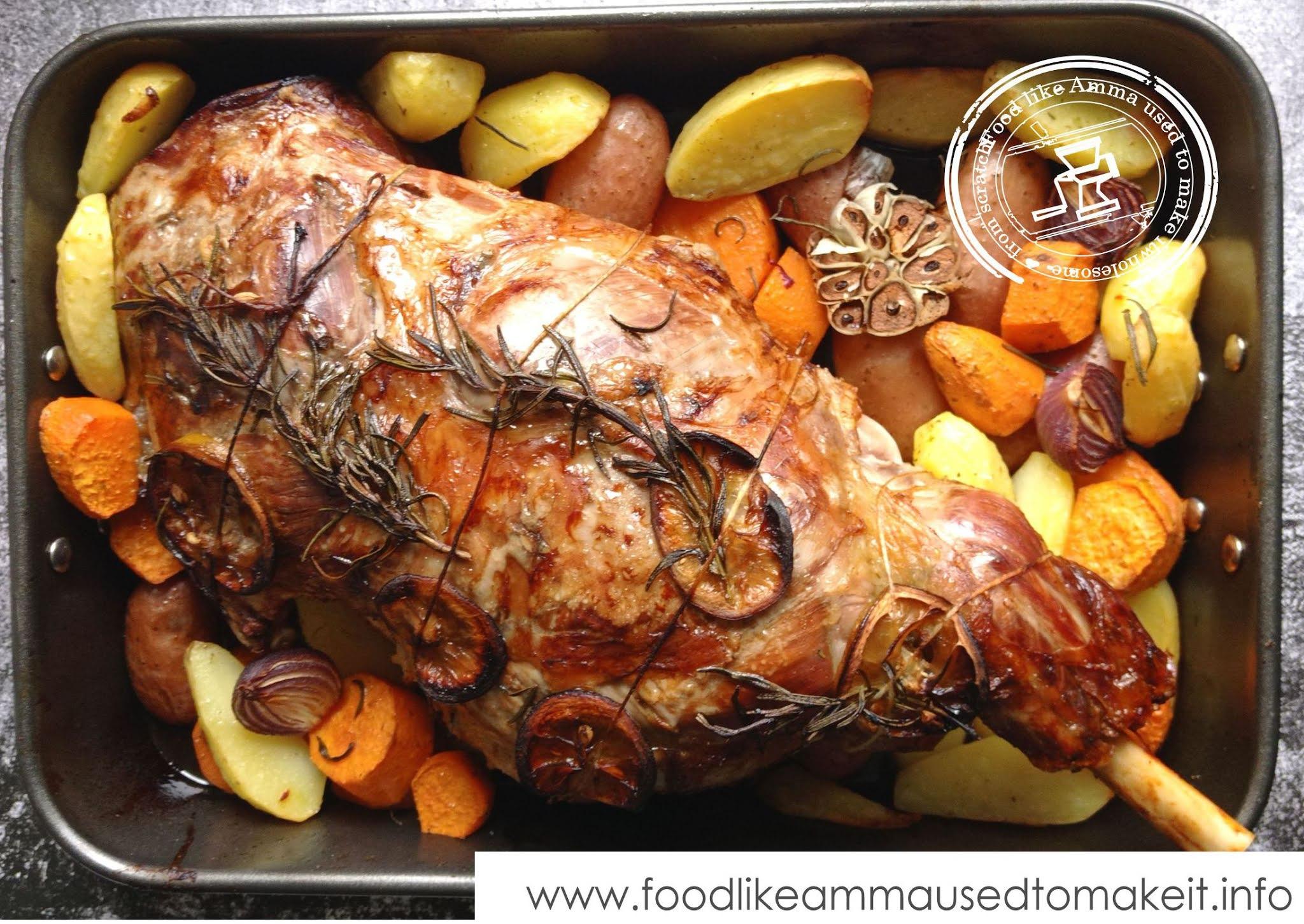 Leg of Lamb with Rosemary Garlic and Lemon