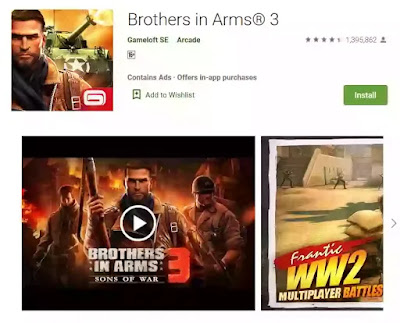 game android offline brothers in arm 3