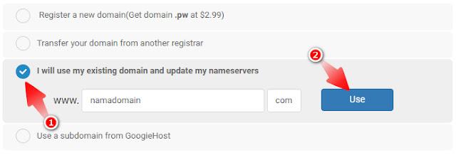 Cara Daftar Hosting Gratis di GoogieHost