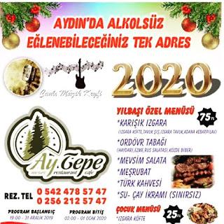 Aytepe Mesire Restaurant Aydın Yılbaşı Programı 2020 Menüsü