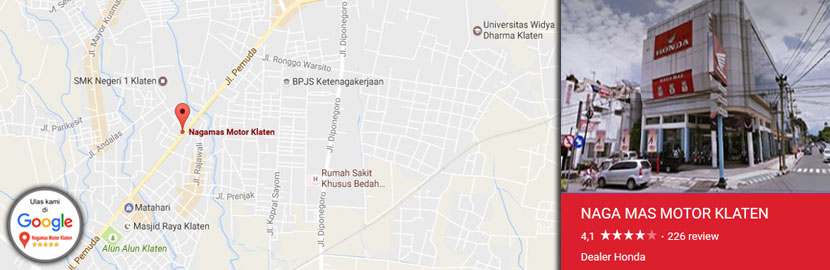 Alamat Dealer Naga Mas Motor Klaten
