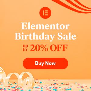 Elementor 20% Off