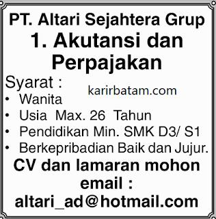 Lowongan Kerja PT. Altari Sejahtera (Februari 2018)