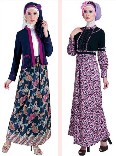 Model Baju Batik Muslim Gamis