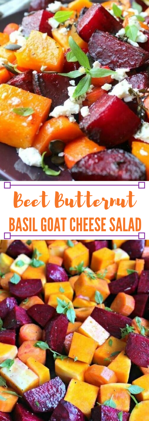 Roast Beet Butternut Basil Goat Cheese Salad #diet #paleo #salad #healthyrecipes #basil