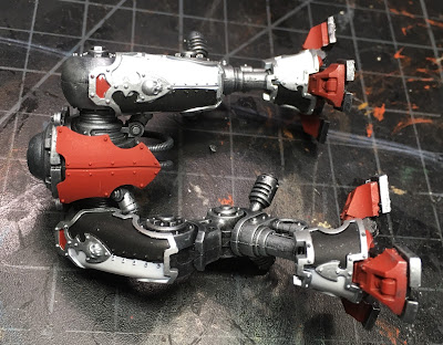 WIP House Taranis Armiger Warglaive legs with armor attached