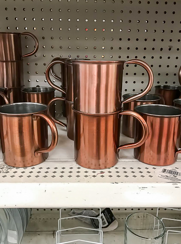 Dollar Tree copper mugs