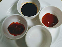 Dark soya sauce,red chilli sauce, red chilly paste, vinegar for Chilli chicken recipe