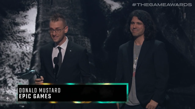 The Game Awards 2019 Donald Mustard Epic Games