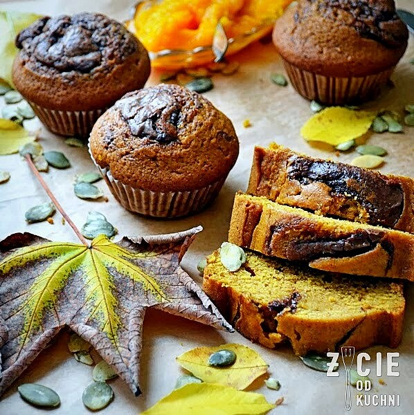 ciasto dyniowe, chlebek dyniowy, muffiny dyniowe, dynia, przepisy z dyni, zycie od kuchni